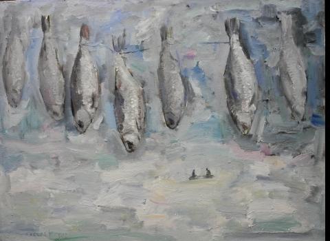 Ловится рыбка, 45х60