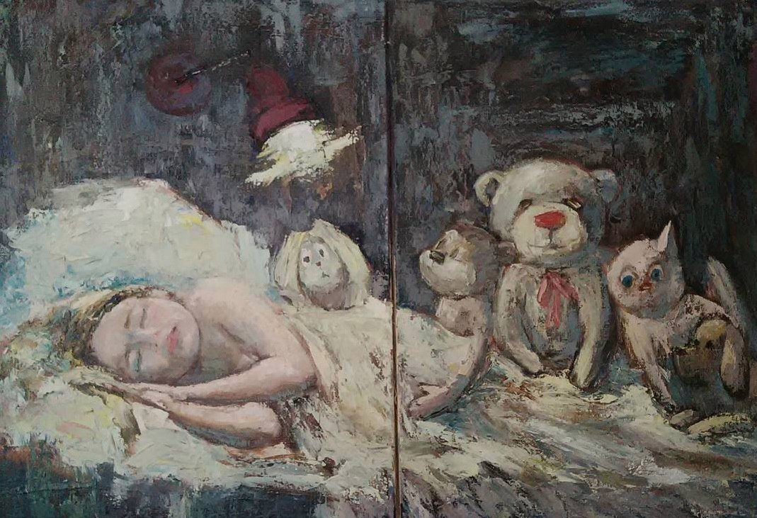 <p>Спят усталые игрушки</p>