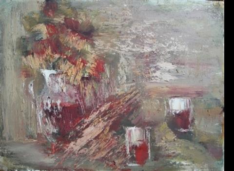 Красный натюрморт