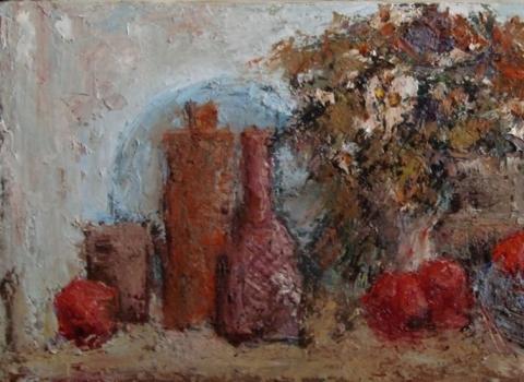 Натюрморт с полевыми цветами