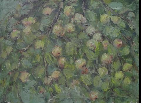 Яблоневая ветвь, 45х60