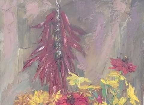 Осенний натюрморт, 90х40