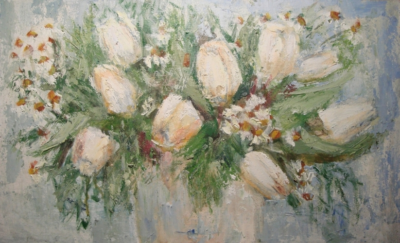 <p><span>Натюрморт с белыми тюльпанами</span></p>