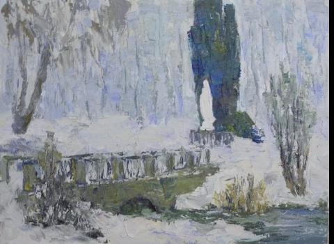 Зимний парк, 45х60