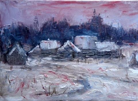 Пирогово.Зима