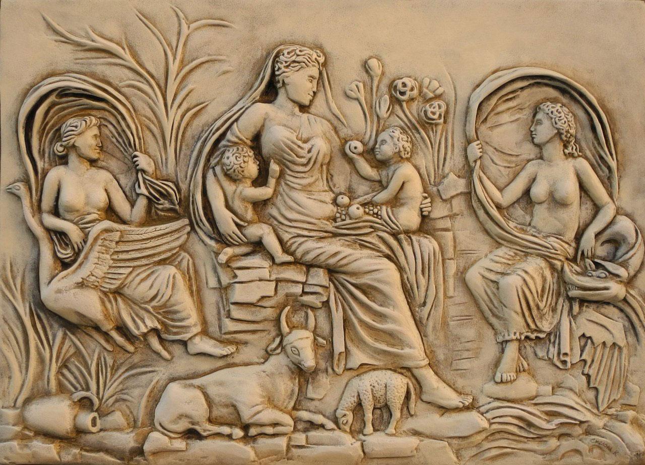 <p>Барельеф. Богиня Теллус</p>